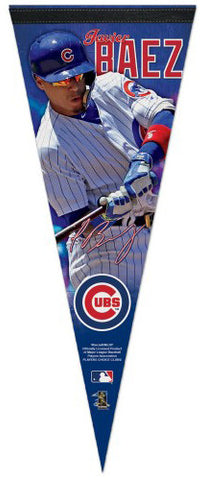 Javier Baez Signature Series Chicago Cubs Premium Felt Collector's PENNANT - Wincraft Inc.
