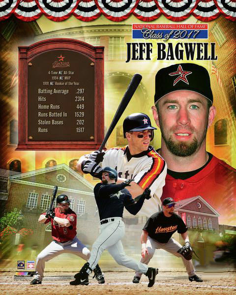 Jeff Bagwell Houston Astros Hall of Fame Commemorative Premium POSTER Print - Photofile