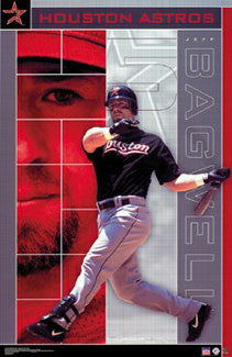 "Jeff Bagwell ""Slam"" Houston Astros Poster - Starline 2002"