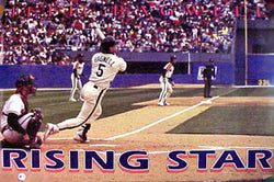 "Jeff Bagwell ""Rising Star"" Houston Astros Poster - Costacos Brothers 1992"