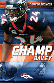 "Champ Bailey ""Staredown"" Denver Broncos Poster - Costacos 2009"