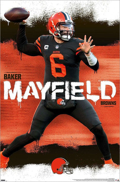 "Baker Mayfield ""Gunslinger"" Cleveland Browns NFL Football QB Action Wall Poster - Trends International"
