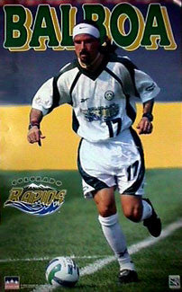 Marcelo Balboa Colorado Rapids MLS Soccer Action Poster - Starline Inc. 1997