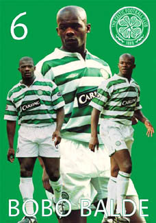 "Bobo Balde ""Celtic Pride"" Glasgow Celtic FC Poster - GB 2003"