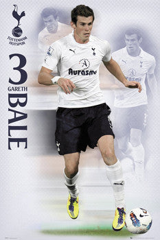 "Gareth Bale ""Triple Action"" Tottenham Hotspur Soccer Poster - GB Eye (UK)"