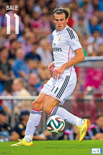"Gareth Bale ""Game Night"" Real Madrid CF Official La Liga Soccer Poster - G.E. (Spain)"