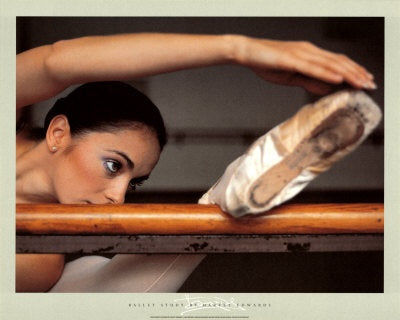 "Ballet Study ""Barre Stretch"" by Harvey Edwards Premium Dance Poster Print  - Wizard & Genius"