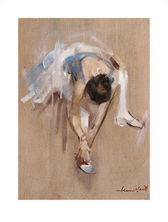 "Ballet Dancer ""Easing Her Toes"" Art Print - Image Conscious Inc."