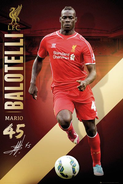 Mario Balotelli Liverpool FC Signature Series EPL Action Poster - GB Eye (UK)