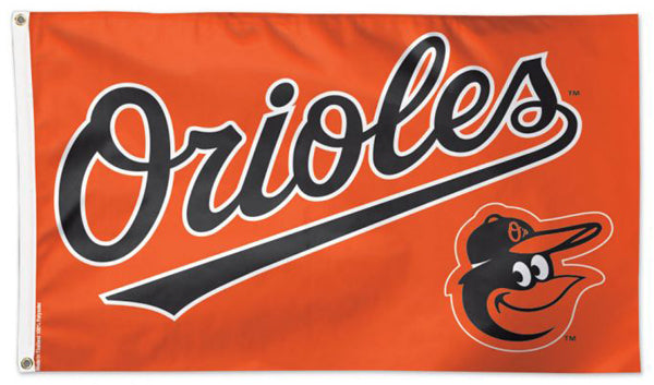 Baltimore Orioles Official MLB Baseball Team Logo Deluxe 3'x5' Flag - Wincraft Inc.