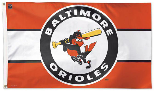 Baltimore Orioles Official MLB Baseball Retro-Style (1966-88) Team Logo Deluxe 3'x5' Flag - Wincraft Inc.
