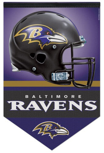 Baltimore Ravens Official NFL Football Premium Felt Banner - Wincraft Inc.