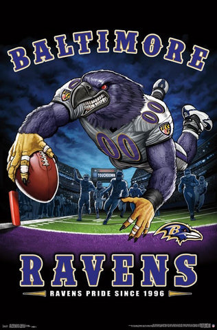 "Baltimore Ravens ""Ravens Pride Since 1996"" NFL Theme Art Poster - Liquid Blue/Trends Int'l."