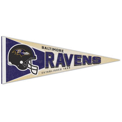 Baltimore Ravens NFL Retro-1990s-Style Premium Felt Collector's Pennant - Wincraft Inc.