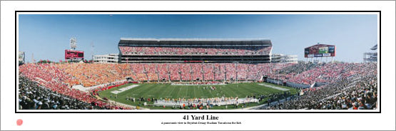 "Alabama Crimson Tide ""41 Yard Line"" Bryant-Denny Stadium Panoramic Poster Print - Everlasting Images"