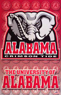 "University of Alabama Crimson Tide NCAA ""Elephant"" Team Logo Poster - Starline Inc."