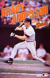 "Brady Anderson ""Action"" Baltimore Orioles MLB Action Poster - Starline 1995"