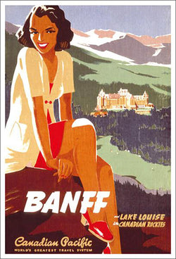 "Canadian Pacific ""Banff Girl"" (c.1930) Vintage Travel Poster Reprint - Eurographics Inc."