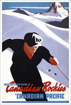 "Banff-Lake Louise ""High Powder"" c.1949 CP Travel Poster Reprint - Eurographics"