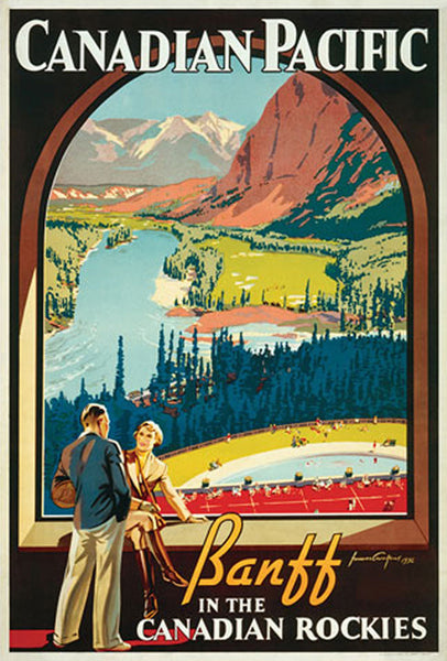 "Canadian Pacific Railway ""Banff Picture Window"" (1936) 24""x36"" Poster Reproduction - Eurographics"