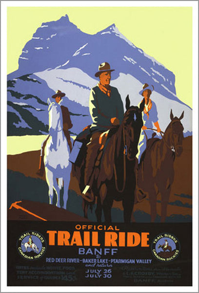 "Banff, Alberta ""Official Trail Ride"" (c.1935) Vintage Poster Reprint - Eurographics Inc."