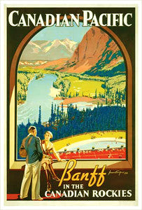 "Canadian Pacific Railway ""Banff Picture Window"" (1936) Poster Reprint - Eurographics"