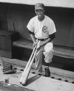 "Ernie Banks ""Early Days"" (c.1955) Chicago Cubs Classic Poster Print - Photofile Inc."