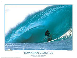 "Surfing ""Banzai Pipeline"" Action Poster Print - Creation Captured"