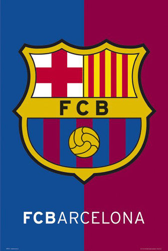 FC Barcelona Official Team Shield Logo Poster - GB Eye (UK)