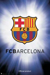 FC Barcelona Official La Liga Team Crest Logo Poster - G.E. (Spain)