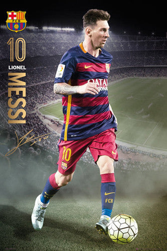 "Lionel Messi ""Game Night"" FC Barcelona Signature Series Official Poster - GB Eye 2015/16"