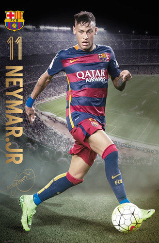 "Neymar Jr. ""Game Night"" FC Barcelona Signature Series Official Poster - GB Eye 2015/16"