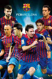 "FC Barcelona ""6 Superstars"" (2011/12) Poster - GE (Spain)"