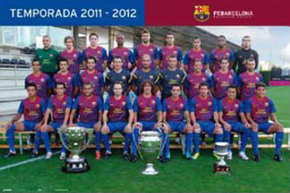 FC Barcelona Official Team Portrait 2011/12 Poster - G.E. (Spain)
