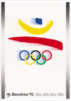 Barcelona 1992 Summer Olympic Games Official Poster Reprint - Olympic Museum