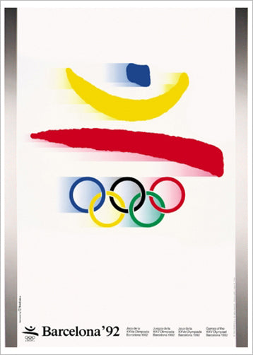 Barcelona 1992 Summer Olympic Games Official Poster Reproduction - Olympic Museum