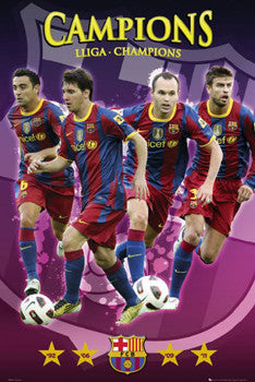 FC Barcelona 2011 La Liga Champions Commemorative Poster - GB Eye (UK)