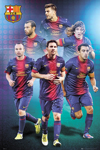 "FC Barcelona ""Pyramid of Greatness"" Soccer Poster - GB Eye 2013"
