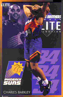 "Charles Barkley ""Elite"" Phoenix Suns NBA Basketball Action Poster - Costacos Brothers 1994"