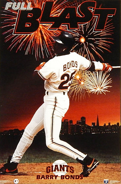 "Barry Bonds ""Full Blast"" (1994) San Francisco Giants Poster - Costacos Brothers Inc."