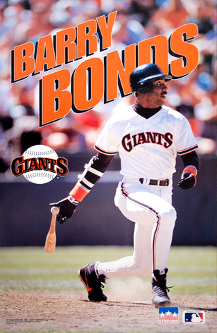 "Barry Bonds ""Gone Deep"" San Francisco Giants MLB Action Poster - Starline 1993"