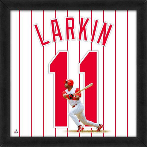 "Barry Larkin ""Number 11"" Cincinnati Reds FRAMED 20x20 UNIFRAME PRINT - Photofile"