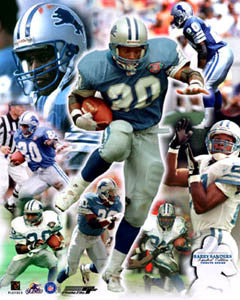 "Barry Sanders ""Tribute"" (Ltd. Ed. /500) Detroit Lions Premium Poster Print - Photofile"