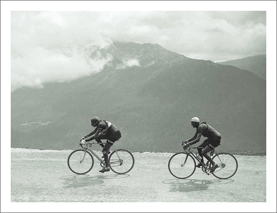 Vintage Tour de France Fausto Coppi and Gino Bartali 1949 High Mountain Pass Poster Print - Presse'e Sports