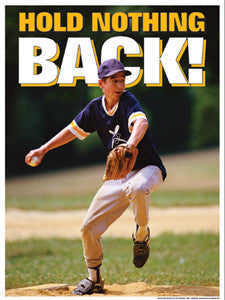 "Baseball ""Hold Nothing Back"" Motivational Poster (Purple)- Fitnus"