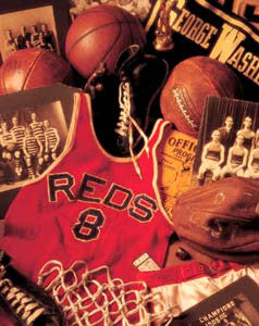 "Vintge Basketball Memorabilia Collage ""Memories"" Poster by Michael Harrison"