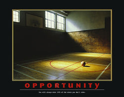 "Basketball ""Opportunity"" Motivational Poster - Eurographics"