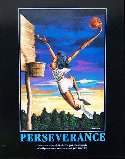 "Basketball ""Perseverance"" Motivational Print by Ernie Barnes"
