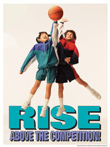 "Youth Basketball ""Rise Above"" - Fitnus Posters Inc."