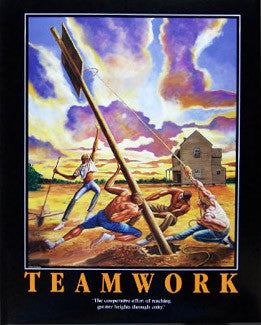 "Basketball ""Teamwork"" Motivational Print by Ernie Barnes"